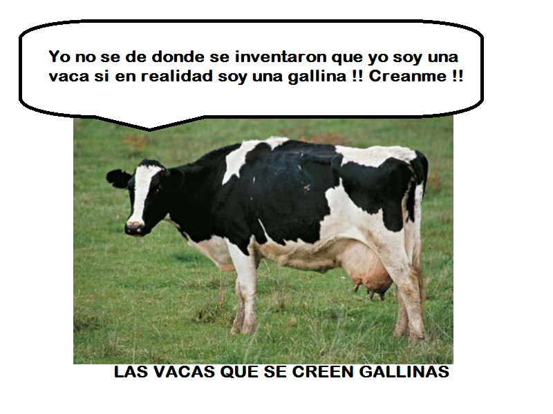 vacasquesecreengallinas